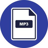 Icono de vector de mp3