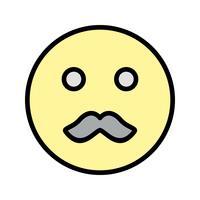 Icona di vettore Emoji baffi