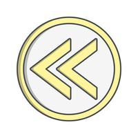 Icono de vector anterior