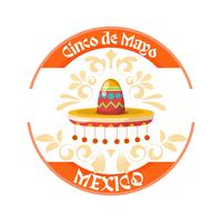 Cinco de mayo hat background with ornament