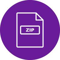 zip vector pictogram