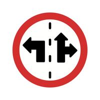 Vector Lane control teken pictogram