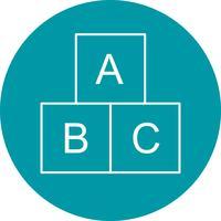 ABC cubos Vector icono
