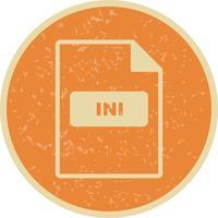 INI Vector Icon