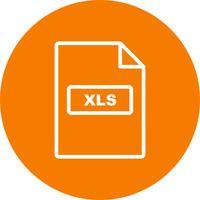 Icona di vettore XLS