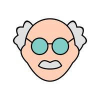 Male Scientist Vector Icon