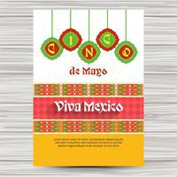 Cinco de mayo flyer with ornaments