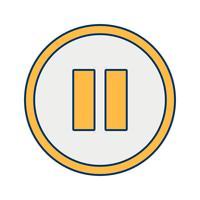 icône de vecteur de pause
