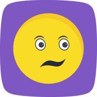 Verwirrte Emoji-Vektor-Ikone