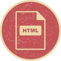 Icona vettoriale HTML
