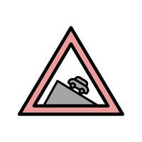 Icona di discesa pericolosa di vettore