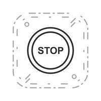 Vektor-Stopp-Symbol
