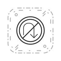 Vektor kein U-Turn-Symbol