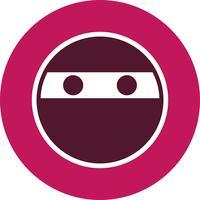 Icono de vector de emoji ninja