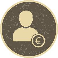 Euro with Man Vector Icon