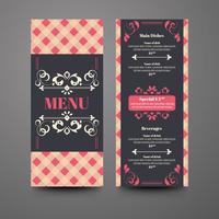 Kleurrijke hand getekend restaurant menusjabloon
