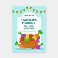 Famers Market Flyer Template Vecteur