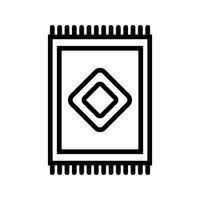 Ícone de vetor de tapete