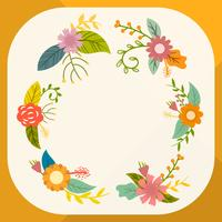 Collection de clipart Vector plate combinaison de fleurs simples