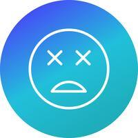 icône de vecteur emoji mort
