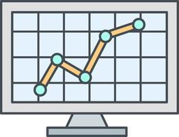 aandelenmarkt vector pictogram