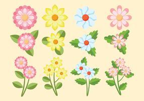 Conjunto de clipart de flor