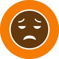Emoji vecteur déçu