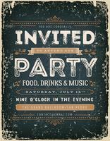 Weinlese-Einladungs-Zeichen auf Tafel