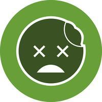 icône de vecteur emoji zombie