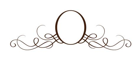 Vektor-Hand gezeichneter kalligraphischer Separator. Frühling Flourish Design Element. Floraler heller Stildekor für Grußkarten, Web, Hochzeit und Druck. Isoliert auf weißem Hintergrund Kalligraphie und Beschriftung Abbildung