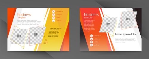 Orange and black business flyer template