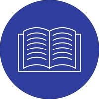 Icona di vettore del libro aperto