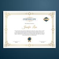 Vector de plantilla de certificado Art Deco