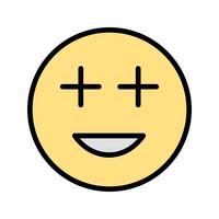 Emoji positif Vector Icon