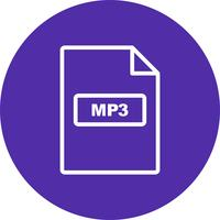 mp3 vector pictogram