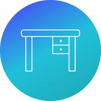 Study Table Vector Icon