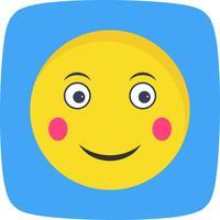 Blush Emoji Vector Icon