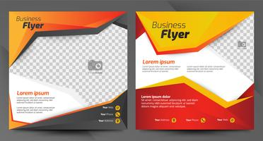 Red and orange business flyer template