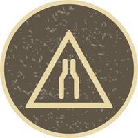 Vektor körväg smal ikon