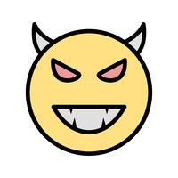 icona di vettore del diavolo emoji