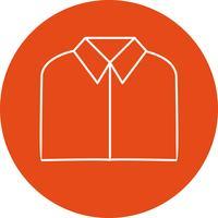 Icona di vettore di camicia scuola