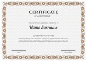 Vetor de modelo de certificado