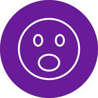 Icona di vettore emoji sorpreso