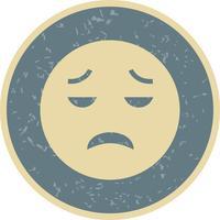 Enttäuschte Emoji-Vektor-Ikone