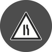 Vector Dual Carriageway ahead pictogram