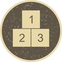 123 cubos Vector icono