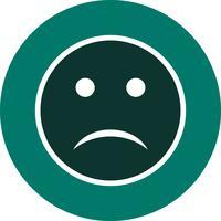 Traurige Emoji-Vektor-Ikone