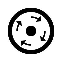 Vector Compulsory roundabout Icon
