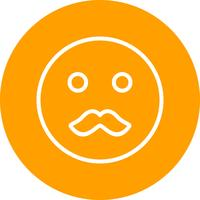 icône de vecteur emoji moustache