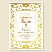 Tarjeta de invitación de boda Vector